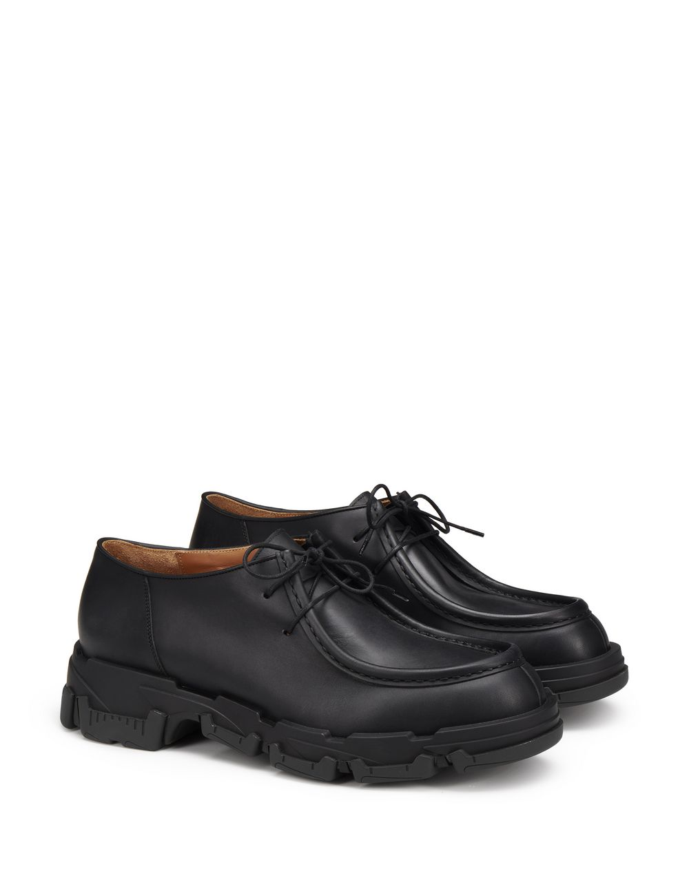 MATTE CALFSKIN LEATHER EXPLORER DERBY SHOES WITH THIN LACES - Lanvin