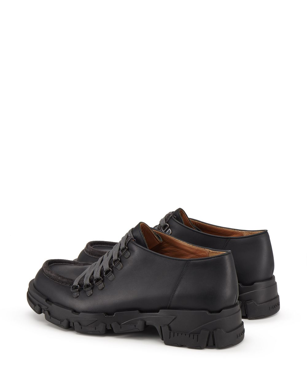 MATTE CALFSKIN LEATHER EXPLORER DERBY SHOES WITH HOOK DETAILS - Lanvin