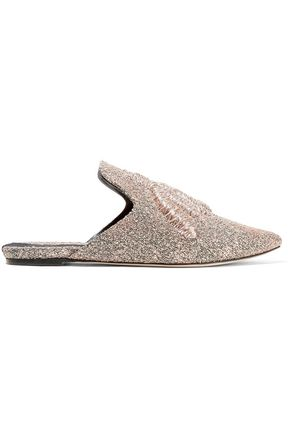 SANAYI 313 Ragno embroidered metallic woven slippers