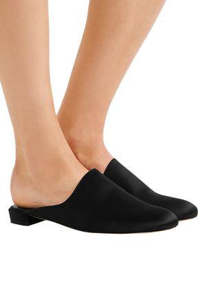 STUART WEITZMAN Satin slippers
