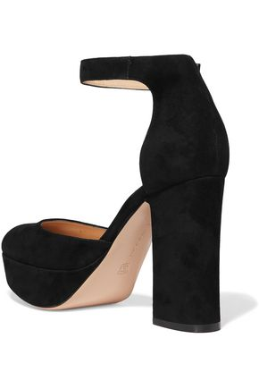 GIANVITO ROSSI Foley D'Orsay suede platform Mary Jane pumps