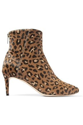 JIMMY CHOO Duke leopard-print calf hair ankle boots