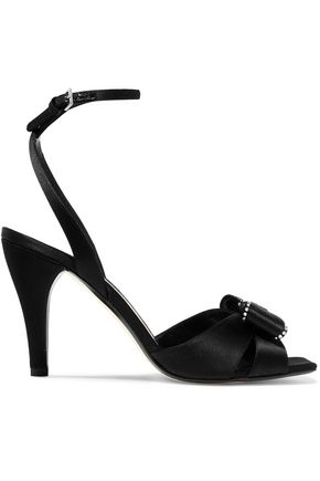 LOEWE Bow-embellished satin sandals