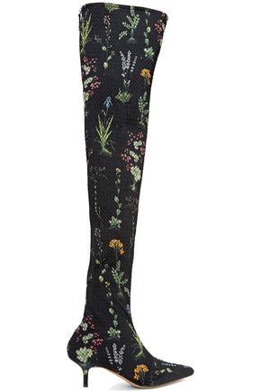 ALTUZARRA Elliot floral-print matelassé over-the-knee boots