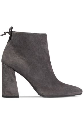 Grandiose Suede Ankle Boots in Anthracite