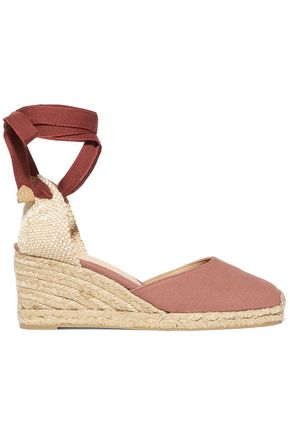 CASTAÑER Carina lace-up canvas wedge espadrilles