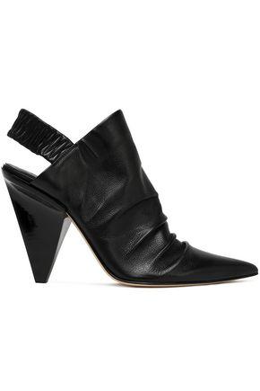 SIGERSON MORRISON Jeanie textured-leather slingback pumps