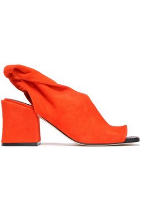 SIGERSON MORRISON Lenny twisted suede slingback mules