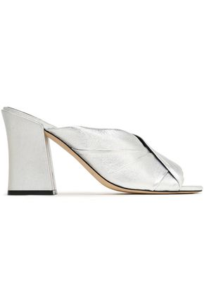 SIGERSON MORRISON Pramod pleated patent-leather mules