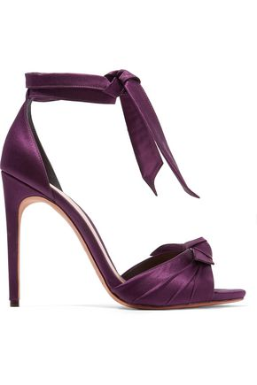 ALEXANDRE BIRMAN Jessica knotted satin sandals
