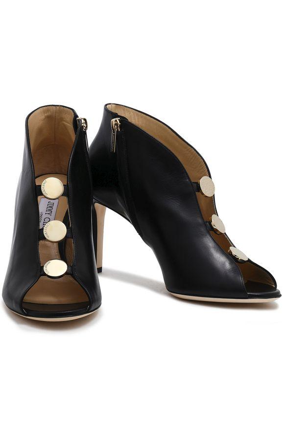 c9de2a9f47e Lorna 85 cutout embellished leather ankle boots