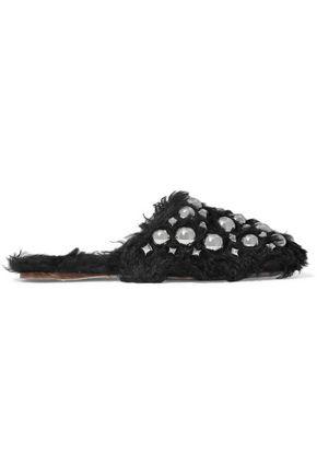 f0435c355dc9 MIU MIU Studded shearling slippers