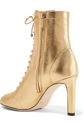 07e9bad8ff918 Daize 85 lace-up metallic leather ankle boots | JIMMY CHOO | Sale up ...
