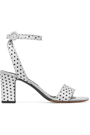 TABITHA SIMMONS Leticia polka-dot twill sandals