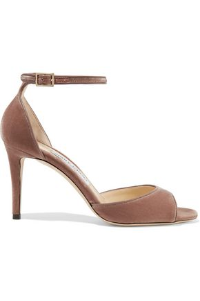 JIMMY CHOO Annie 85 velvet sandals