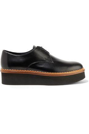 TOD'S Leather platform brogues