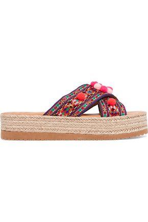 MABU by MARIA BK Violette embellished woven espadrille sandals
