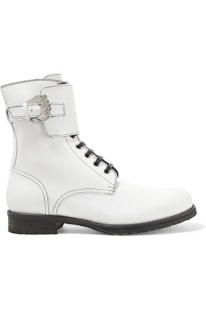 DORATEYMUR Buckled leather ankle boots