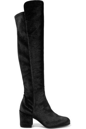 STUART WEITZMAN Lowjack stretch-velvet boots