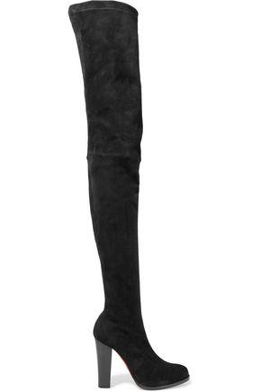 CHRISTIAN LOUBOUTIN Verusch 100 suede thigh boots