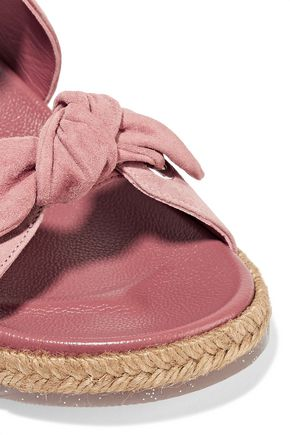 JIMMY CHOO Nixon knotted suede slides