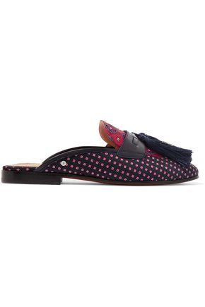 SAM EDELMAN Parsimon tasseled jacquard slippers