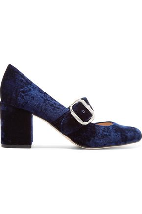 SAM EDELMAN Chessie velvet Mary Jane pumps