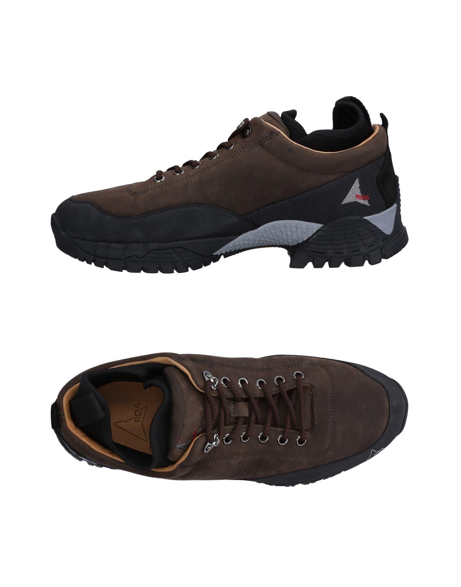 ROA Sneakers in Dark Brown