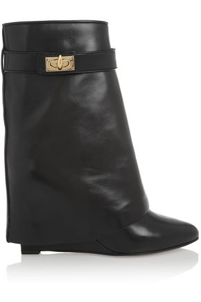 GIVENCHY Folded side panels leather boots