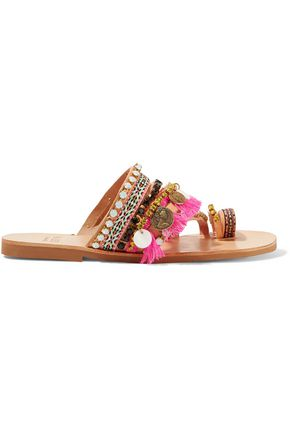 MABU by MARIA BK Rossetta embellished leather sandals