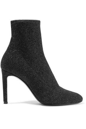 GIUSEPPE ZANOTTI Natalie glittered stretch-knit sock boots