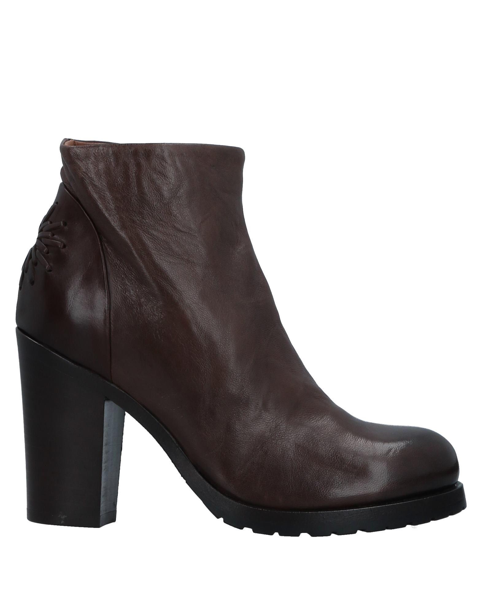 《送料無料》I.N.K. Shoes レディース ショートブーツ ダークブラウン 37 革