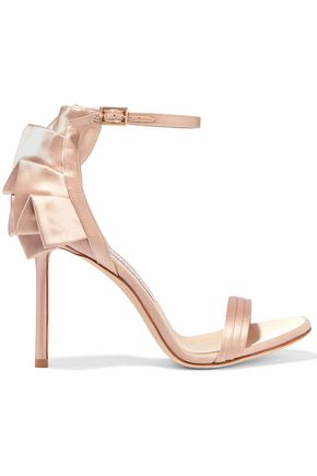 JIMMY CHOO Kerry 100 ruffled satin sandals