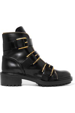 BALMAIN Combat leather boots
