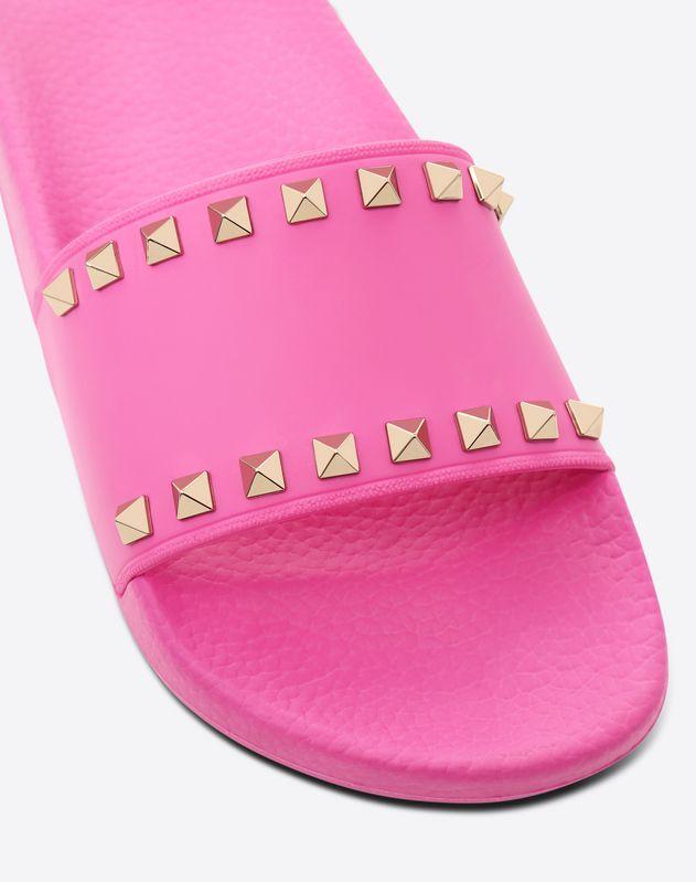 Rockstud Slide Sandal in rubber