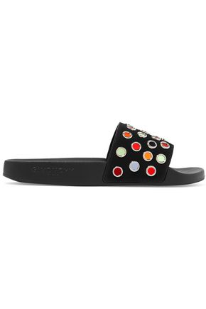 GIVENCHY Embellished leather slides
