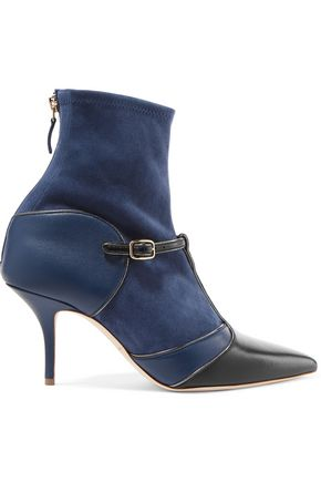 MALONE SOULIERS Suede and leather ankle boots