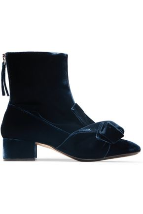 N°21 Knotted velvet ankle boots