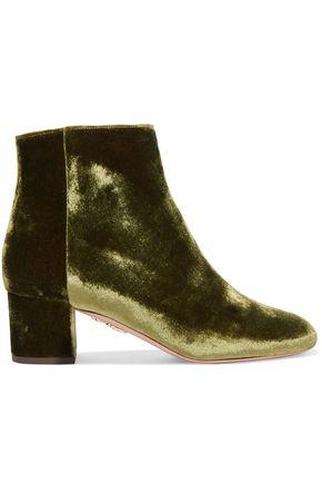 AQUAZZURA Velvet ankle boots