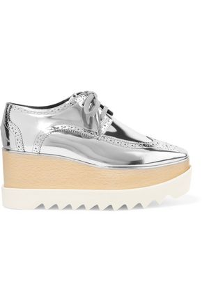 STELLA McCARTNEY Mirrored faux leather platform brogues