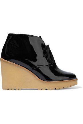 RED(V) Patent-leather platform ankle boots
