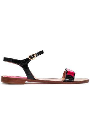 RED(V) Flat Sandals