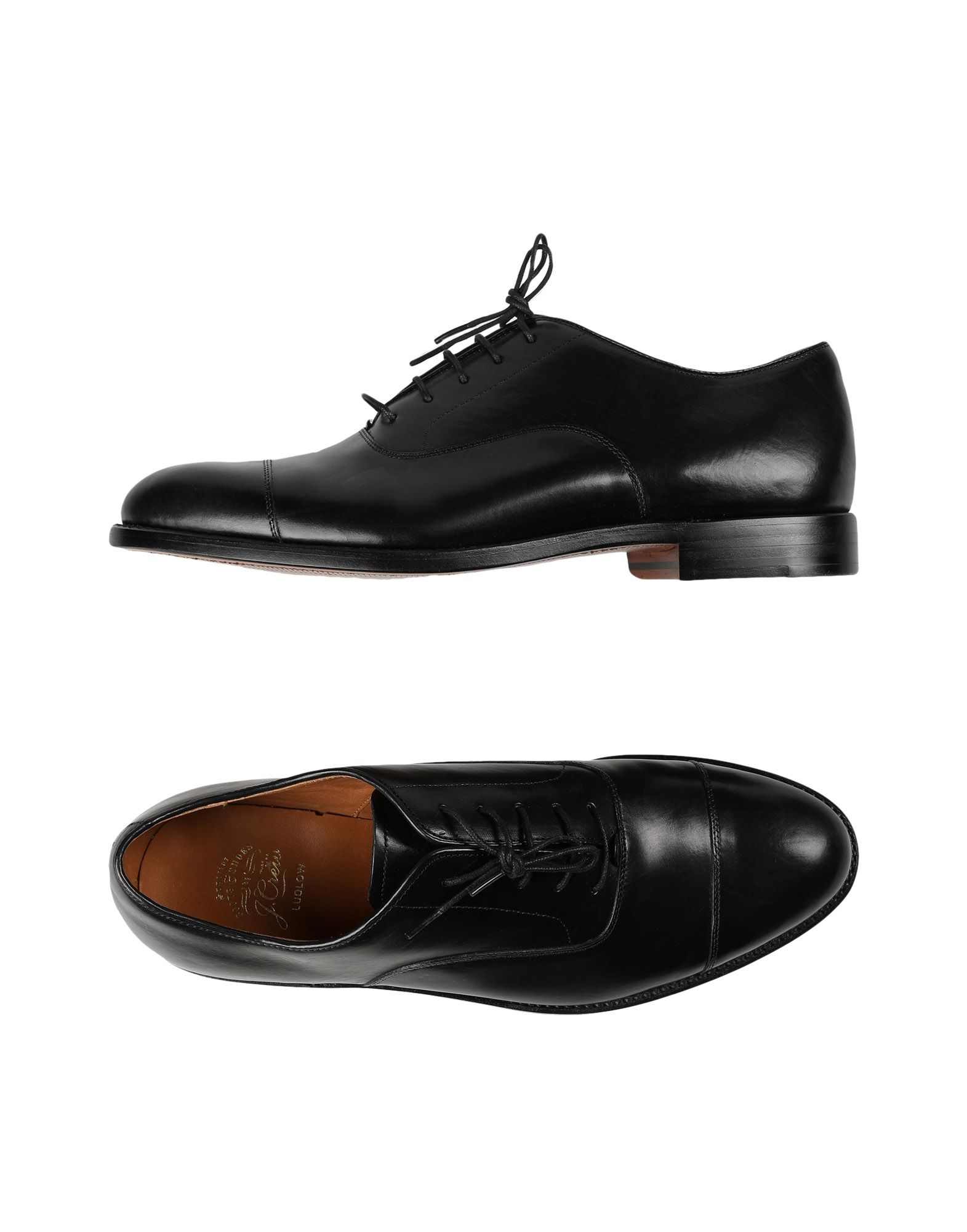 J.CREW Lace-up shoes. flat, no appliqués, basic solid color, narrow toeline, leather lining, leather sole, contains non-textile parts of animal origin. Leather