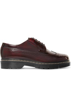 JOSEPH Glossed-leather brogues