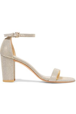 STUART WEITZMAN NearlyNude velvet sandals