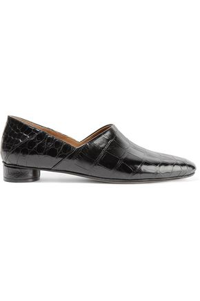 THE ROW Noelle alligator collapsible-heel loafers