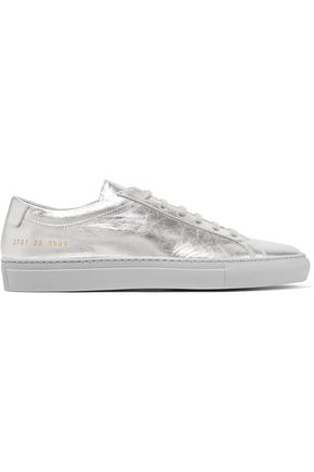 WOMAN by COMMON PROJECTS Metallic leather sneakers