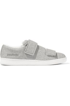 Woman Triple Brushed-Felt Sneakers Gray