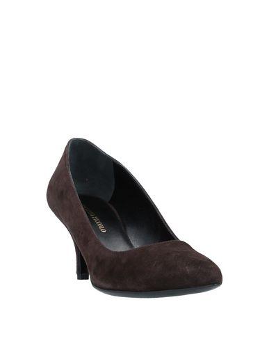 Фото 2 - Женские туфли VINCENZO PICCOLO темно-коричневого цвета