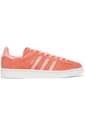 ADIDAS ORIGINALS Leather-trimmed suede sneakers
